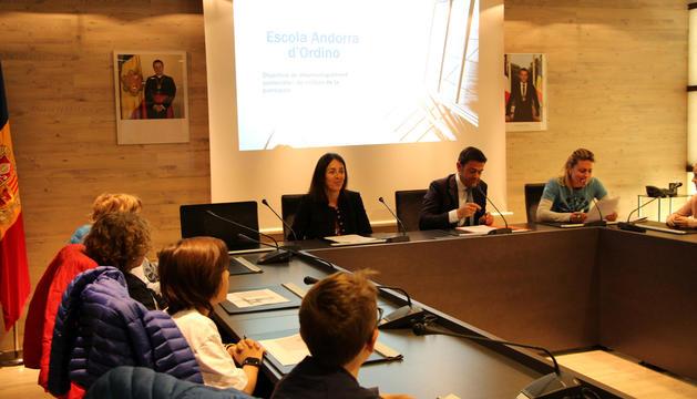 El consell d'infants d'Ordino, ahir al comú.