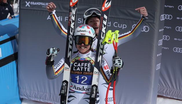 L'alemanya Viktoria Rebensburg ha estat segona a la cursa de descens.