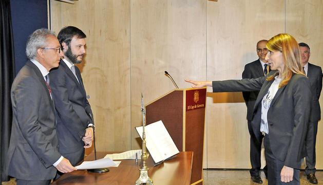 Neus Soriano en el jurament com a secretària d'estat de comerç i competitivitat.