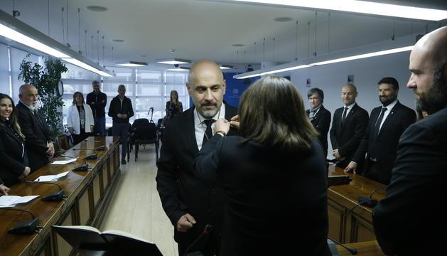 Higini Martínez-Illescas en el moment de ser anomenat nou conseller del comú