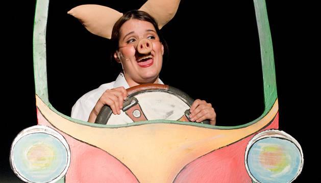 Una imatge del musical 'Els tres porquets'.