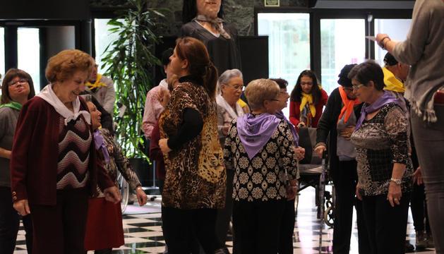 Els avis participants en les Memolimpíades a Sant Julià