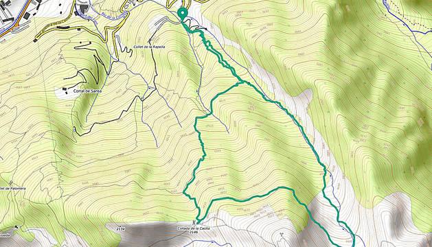 'Track' de la ruta circular de quasi 9 quilòmetres