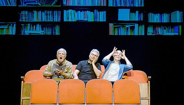 Paco Mir, a la dreta, amb Joan Gràcia i Carles Sans.