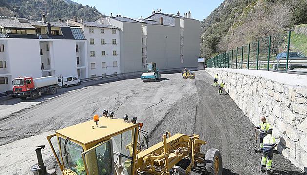 La zona on es construiran el nou aparcament.