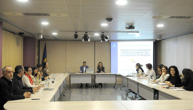 La Comissió de coordinació i desenvolupament del Pla Nacional de Residus s'ha reunit per fer balanç de l'any passat