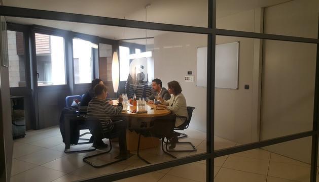 La reunió que s'ha celebrat aquest matí entre Espot, Suñer, López i Gili