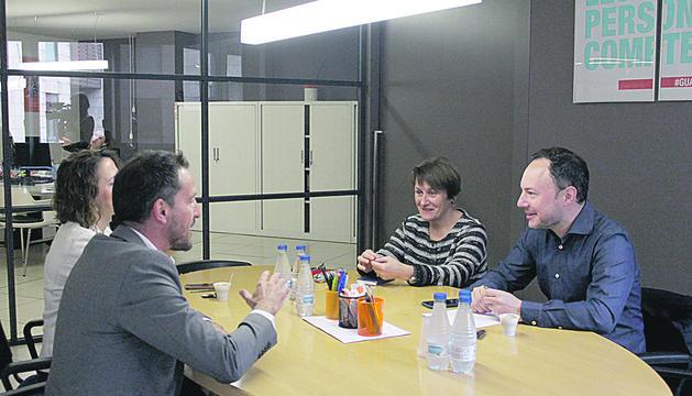 Xavier Espot i Roser Suñé es van reunir ahir amb Rosa Gili i Pere López.