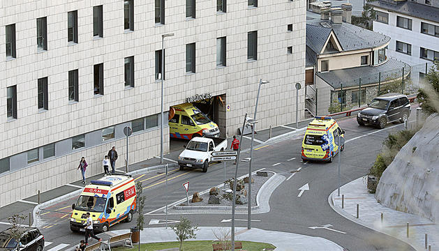 Entrada d'urgències de l'hospital.