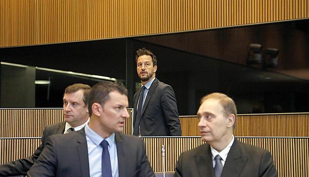Pintat, Mayoral, Gallardo i López, en una sessió del Consell General.