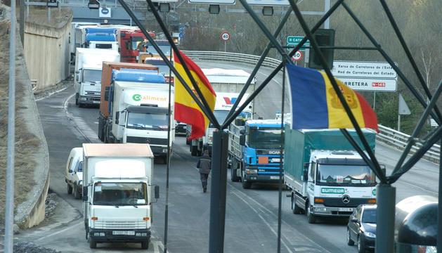 El tall de l'RN-22 també està afectant el sector del transport de mercaderies.