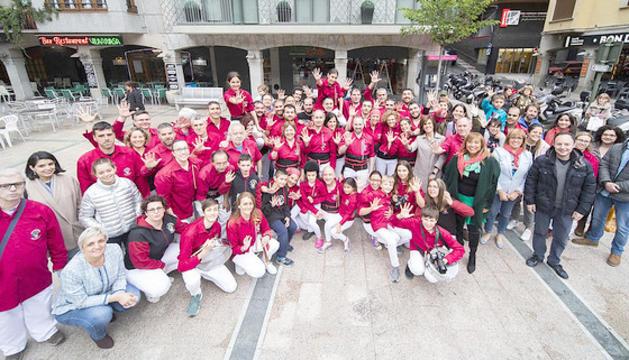 La Llacuna va acollir l'exposició 'Castellers d'Andorra, cinc anys fent pinya'