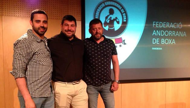 D'esquerra a dreta: Bruno Modesto, Àlex Martínez i Àlex Rayo.