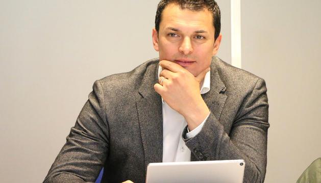 Jordi Gallardo durant l'executiva d'ahir dels liberals.