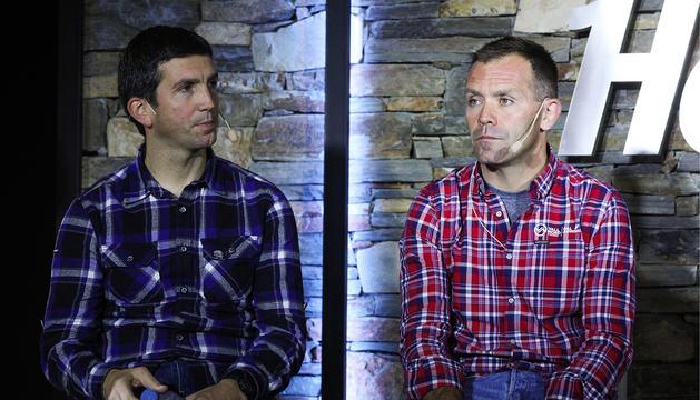 Els directors d'Arcalís i Pal-Arinsal en l'última presentació de la temporada de Vallnord