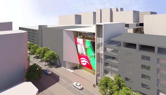 Imatge del projecte de l'edifici de Jocs SA a Prat de la Creu.