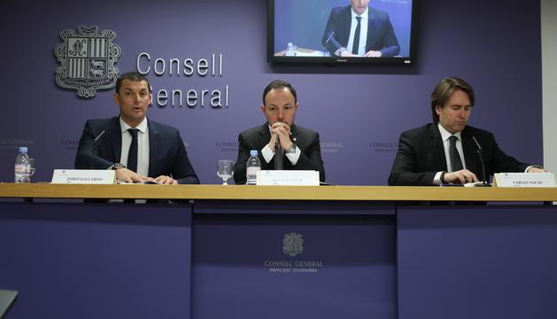 Jordi Gallardo, Xavier Espot i Carles Naudi han explicat els cinc eixos de la legislatura