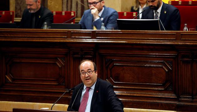Miquel Iceta, ahir al Parlament de Catalunya.