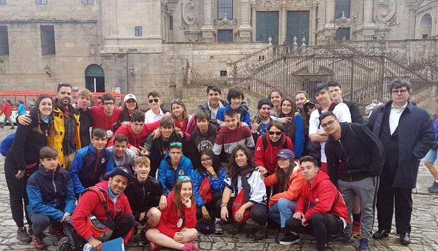 Uns 250 alumnes andorrans van arribar a Santiago.