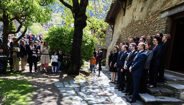 Foto oficial dels ministres del nou Govern Espot