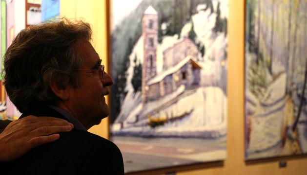 Jaume Campmany durant la presentació de la mostra.