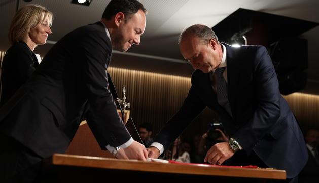 El titular de Justícia i Interior, Josep Maria Rossell, pren possessió del càrrec a Ordino