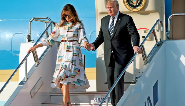 Donald Trump va arribar ahir al Japó.