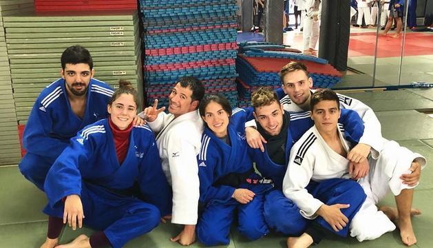 L'equip de judo andorrà que participa als Jocs de Montenegro