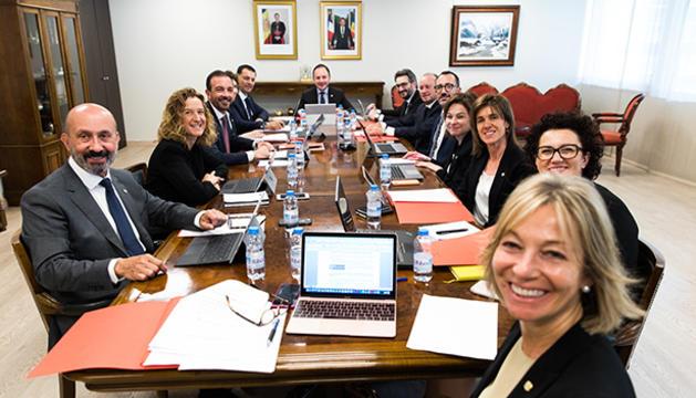 Xavier Espot ha presidit el primer consell de ministres del nou Govern