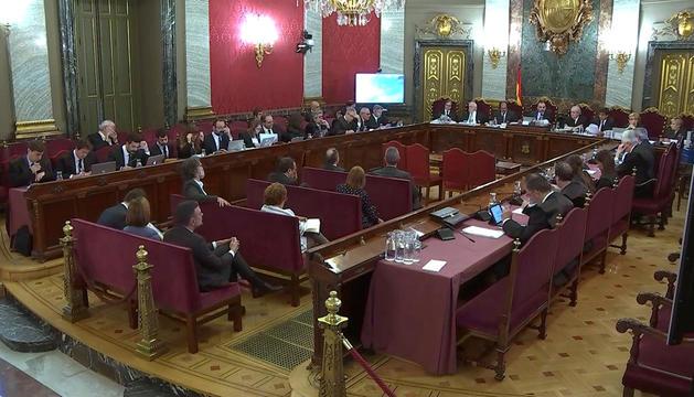 Una de les sessions del judici al procés al Tribunal Suprem.
