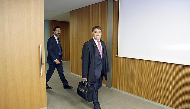 Albert Hinojosa, al Consell General després de comparèixer davant la comissió BPA.