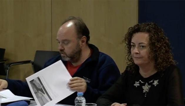 Lara Vilamala al costat de Gabriel Ubach.