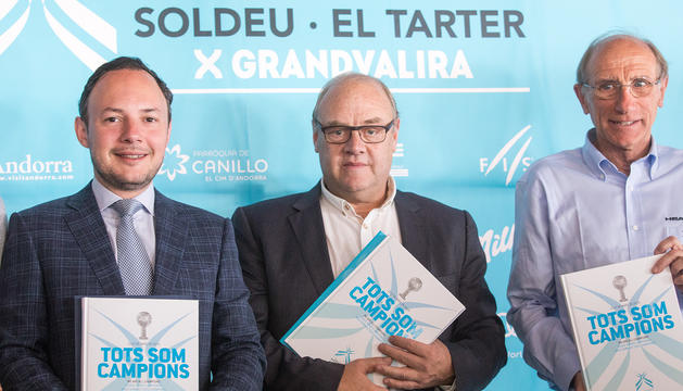 Xavier Espot, Josep Mandicó i Conrad Blanch han presentat el balanç de les finals de Copa del Món