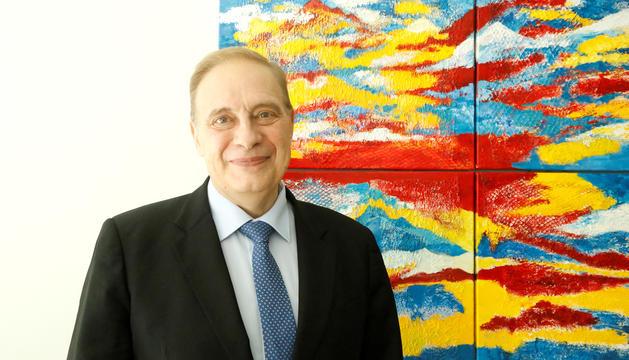 Josep Pintat en un despatx del Consell General.