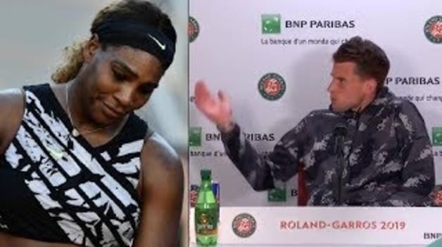 Serena Williams fa fora de la roda de premsa a Dominic Thiem