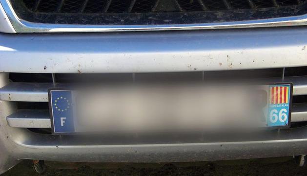 La placa del vehicle sancionat.