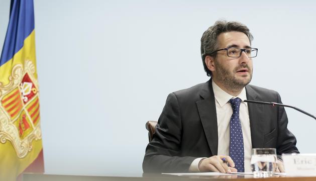 El ministre de Finances i portaveu, Eric Jover