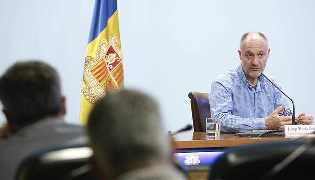 Josep Maria Casals, cap d'àrea de Seguretat Alimentària i Entorn, a la presentació del balanç del 2018