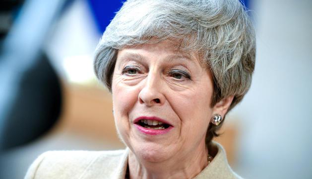 La primera ministra britànica, Theresa May, en una imatge d'arxiu.