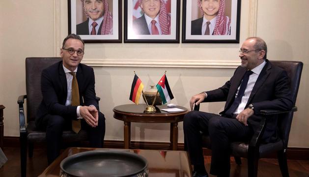 El ministre Maas reunit amb el seu homòleg jordà, Ayman Safadi.