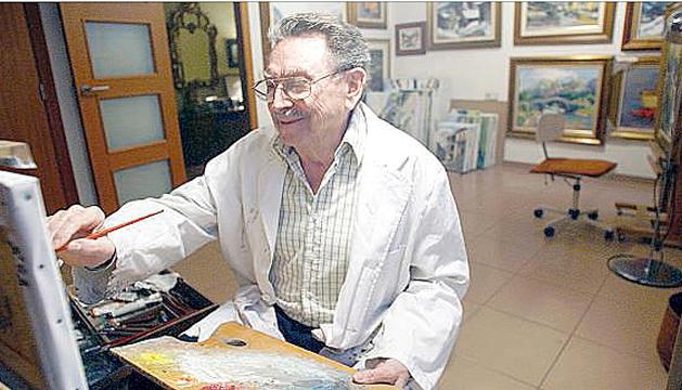 L'artista, a l'estudi de casa seva, a Escaldes, en una foto d'arxiu.