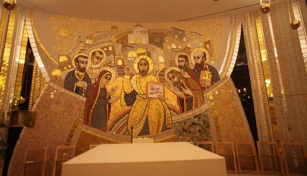 Benedicció del nou mosaic de l'església de Sant Julià