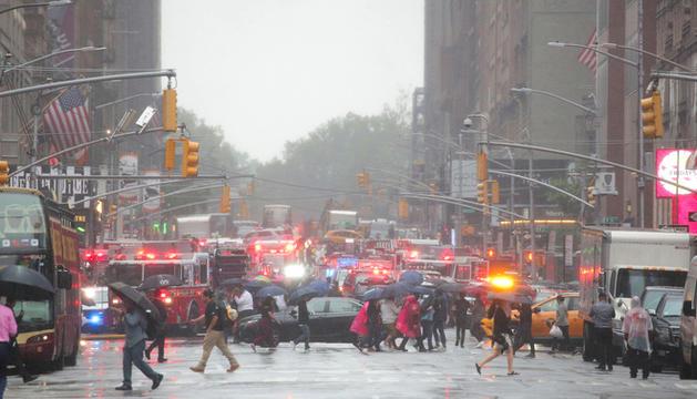 Els equips d'emergència a la zona.