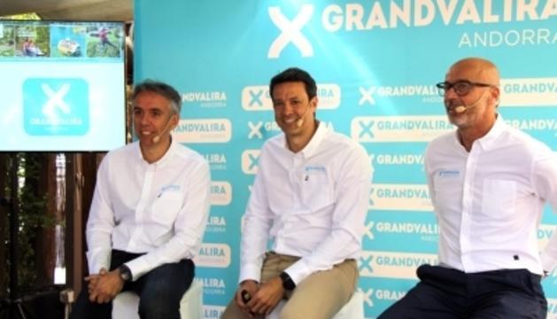 David Hidalgo,  Alfonso Torreño i Xavier Salinas han presentat la nova temporada d'activitats d'estiu de Grandvalira