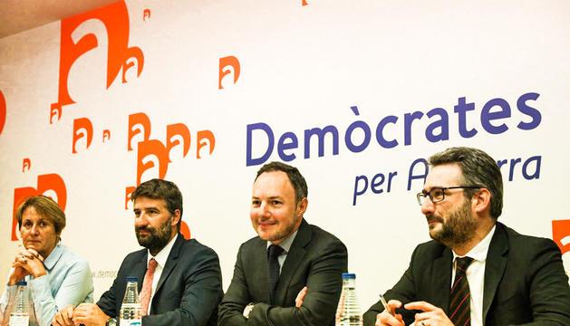 Jover, Vidal i Suñé amb Xavier Espot.
