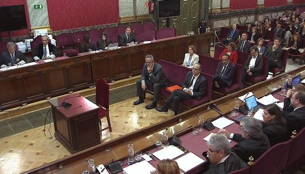 Un moment de la sessió d'ahir del judici.
