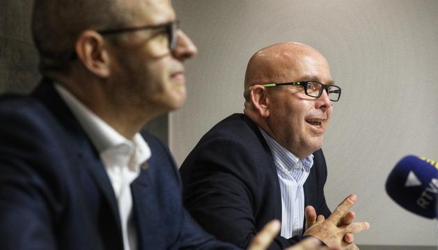 L'advocat Josep Anton Silvestre i el seu defensor, Gonzalo Boye