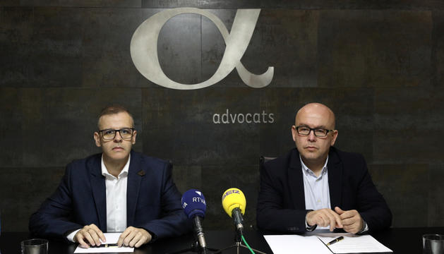 Josep Anton Silvestre i Gonzalo Boye, ahir.