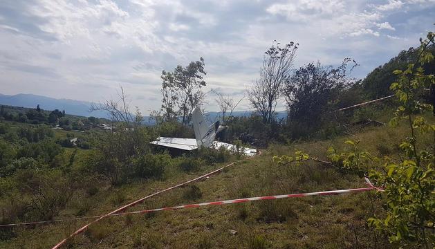 L'avioneta va quedar destruïda en un 90%.
