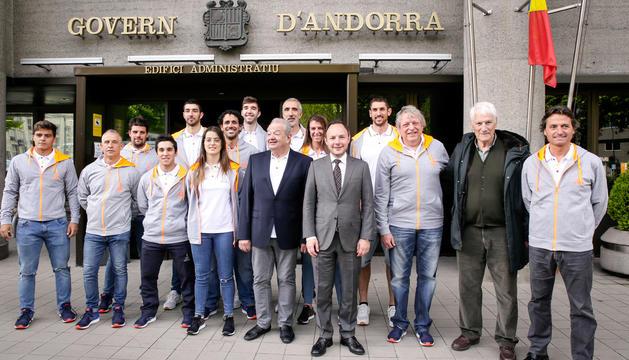 Xavier Espot rep la delegació que anirà als Jocs de Minsk